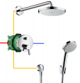 HansGrohe Focus S komplet prysznicowy podtynkowy 31743180