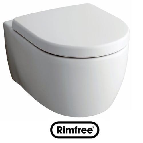 keramag icon miska podwieszana 53x35 5cm rimfree 204060. Black Bedroom Furniture Sets. Home Design Ideas