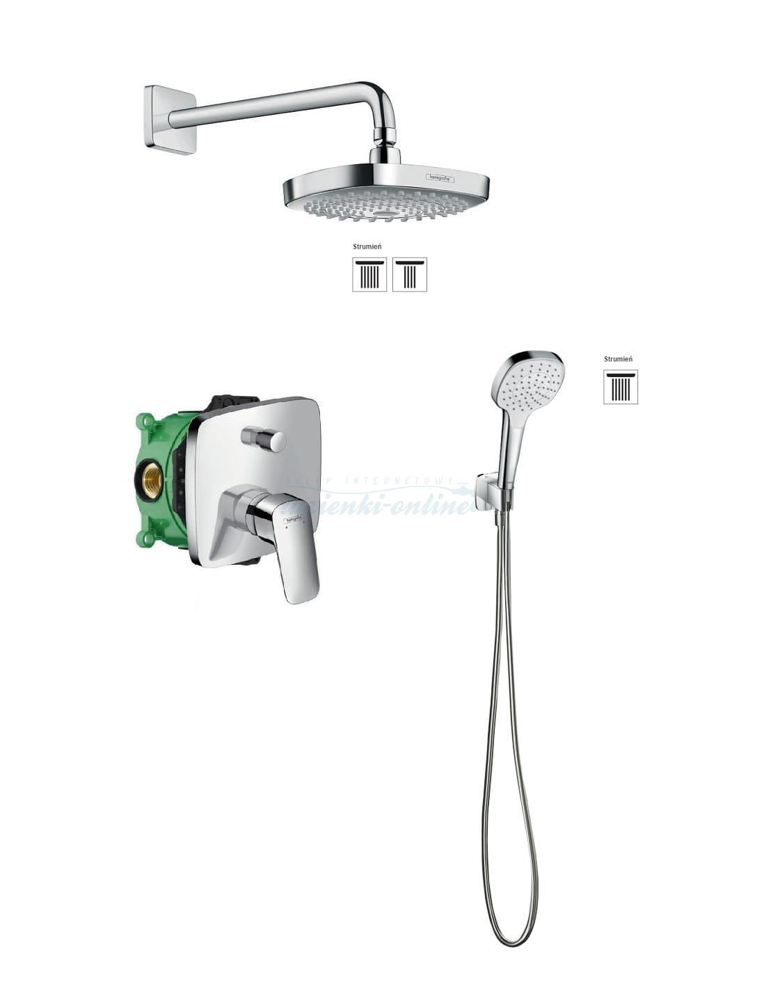 hansgrohe logis croma select e komplet prysznicowy podtynkowy 5205412ed lazienki online. Black Bedroom Furniture Sets. Home Design Ideas