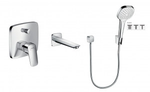 HansGrohe Logis komplet wannowy podtynkowy, bez iboxa 5205414ED