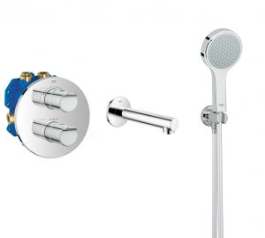 Grohe Grohtherm 2000 NEW komplet wannowy podtynkowy 119302ED