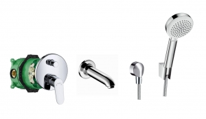 HansGrohe Focus komplet wannowy podtynkowy 31945170