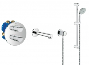 Grohe Grohtherm 2000 NEW komplet wannowy podtynkowy 119303ED