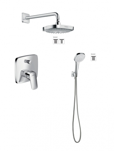 HansGrohe Logis Croma Select E komplet prysznicowy podtynkowy, bez Iboxa 5205413ED